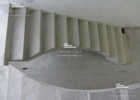 Лестница 180° с площадкой