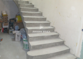 Бетонная лестница на второй этаж ООО ЛИНИЯ ХОДА Проект 038_01