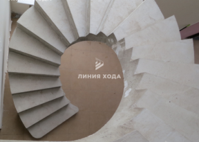 Бетонная винтовая лестница ООО ЛИНИЯ ХОДА Проект 040_05