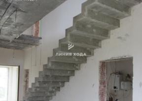 Маршевая лестница на второй этаж ООО ЛИНИЯ ХОДА Проект 003_02