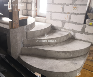 Пригласительные ступени лестницы из монолитного бетона от ООО ЛИНИЯ ХОДА Проект 001_02